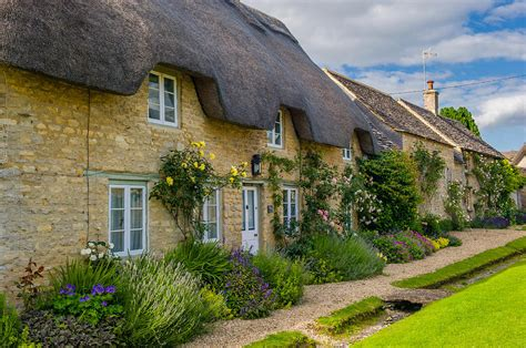 Oxfordshire Cottages by Thatched Cottages Minster Lovell Oxfordshire Photograph By