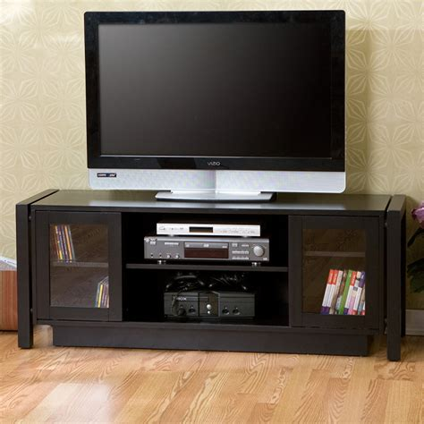 sei ms9877h black 50 quot flat panel tv stand media console