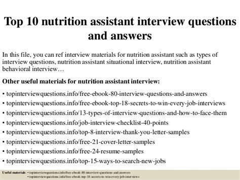 nutrition assistant description nutrition ftempo