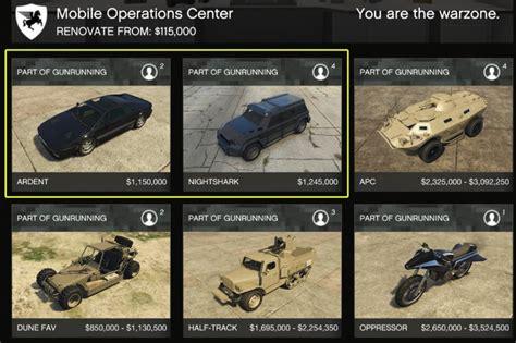 Gta 5 Online Fliegendes Motorrad by Gta 5 Online Gunrunning Leak Alle Autos Mit Preisen Und