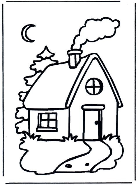 log cabin coloring page coloring home