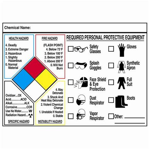 printable nfpa labels safety signs right to know nfpa protective equipment