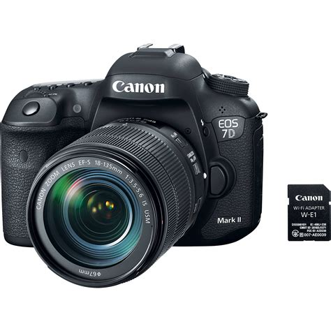 canon eos 7d canon eos 7d ii dslr with 18 135mm 9128b135 b h