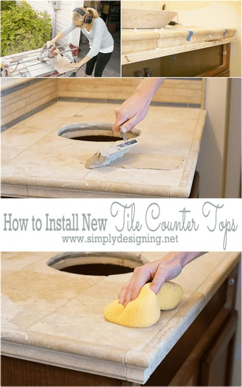 how to install a bar top master bathroom remodel part 8 how to install new tile counter tops