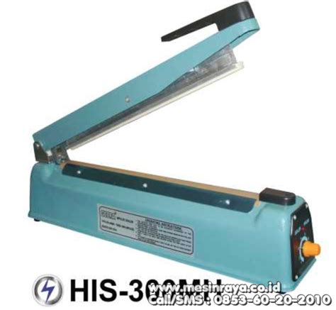 Impulse Sealer Mesin Press Plastik Alat Pres Plastik mesin sealer press plastik manual tangan metal ukuran kecil his 300mh