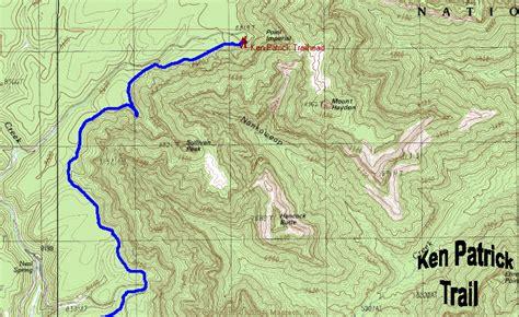 ken patrick trail map grand canyon