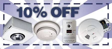 coupon code for smoke alarms co detectors safety