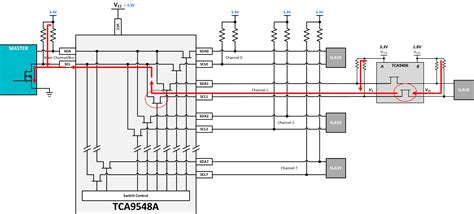 how to select pull up resistor value pca9548a pull up resistors on sda and sdo i2c forum i2c ti e2e community