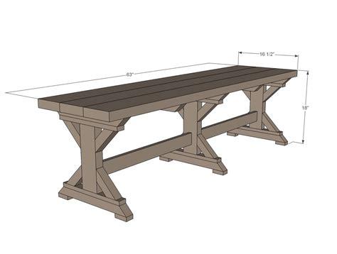 ana white farmhouse table plans ana white build a fancy x farmhouse bench free and