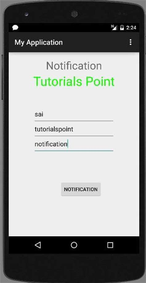 android studio tutorial button click android push notification