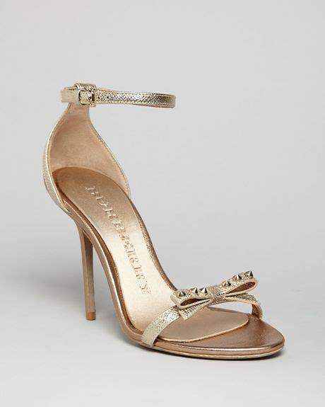 burberry high heels burberry sandals willenmore high heel in gold metallic