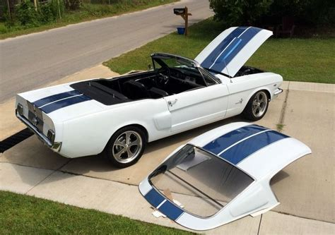 ford mustang removable fastback hardtop convertible