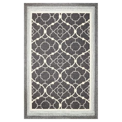 Lowes Indoor Outdoor Rug Shop Kas Rugs Shabby Chic Rectangular Indoor Outdoor Hooked Throw Rug At Lowes