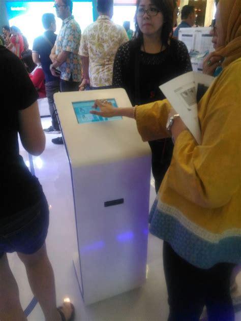 Mesin Antrian Puskesmas sewa mesin antrian android untuk garuda travel fair