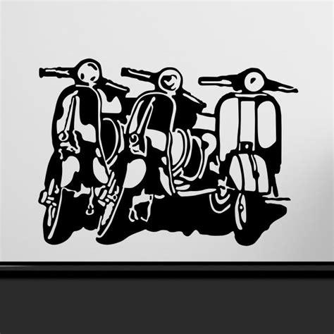 Decal Stiker Pin Up Vespa Jadul vespa scooter wall sticker motorbike bedroom stickers mod large decal vinyl vespa scooters