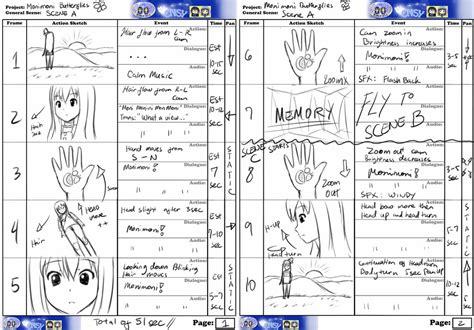 anime storyboard template storyboard monimoni butterflies a b c by