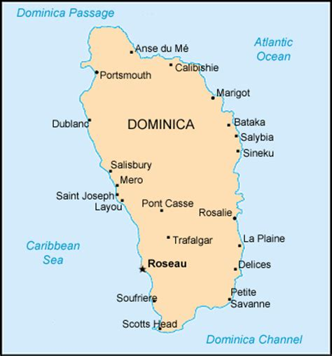 dominica on world map map dominica centre for intercultural learning