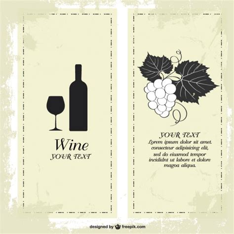free wine menu template wine menu templates free
