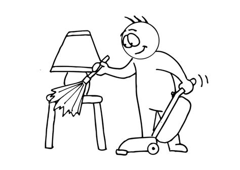 house cleaning coloring pages coloring page house cleaning img 11688