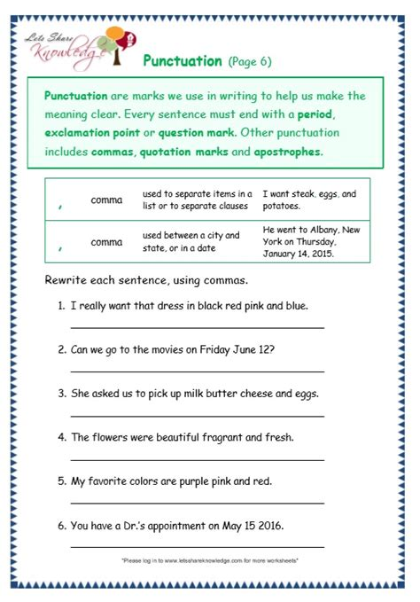 1407140701 grammar and punctuation years punctuation paragraph worksheets www imgkid the