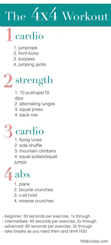 printable workout indoor cardio crusher weight loss tips printable workout the 4x4 workout for cardio strength