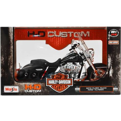 1 12 Maisto Harley Davidson Flhrc Road King Glide Motorcycle Model Car maisto h d custom harley davidson motorcycles 2013 flhrc road king classic 1 12 scale diecast