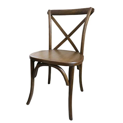 x back chair rental walnut wood chair rentals