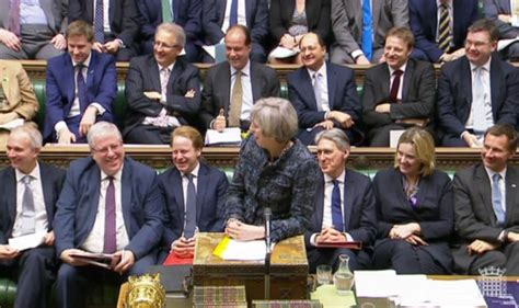 government front bench pmqs theresa may has commons in fits as she mocks snp mp