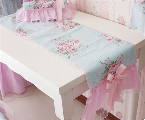 top 28 shabby chic runner coffee table runner 36 shabby chic pink grey and by pipdesigns