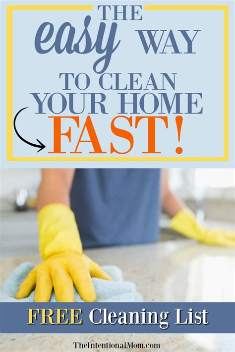 clean your house fast how to clean your entire house in the easy way to clean your home fast free cleaning list