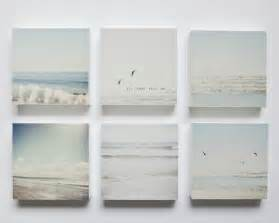 Pale Blue And White pale blue grey and white beaches set of 6 photo blocks beach decor