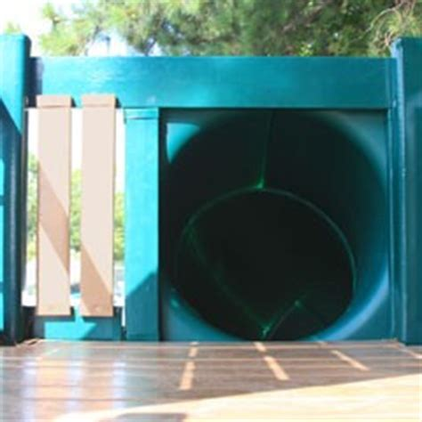 tunnel twister    playset deck height