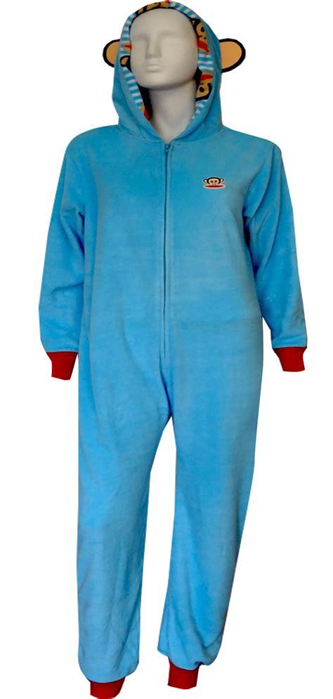 Pajamas Paul Frank Moustache webundies paul frank julius baby blue fleece one pajama