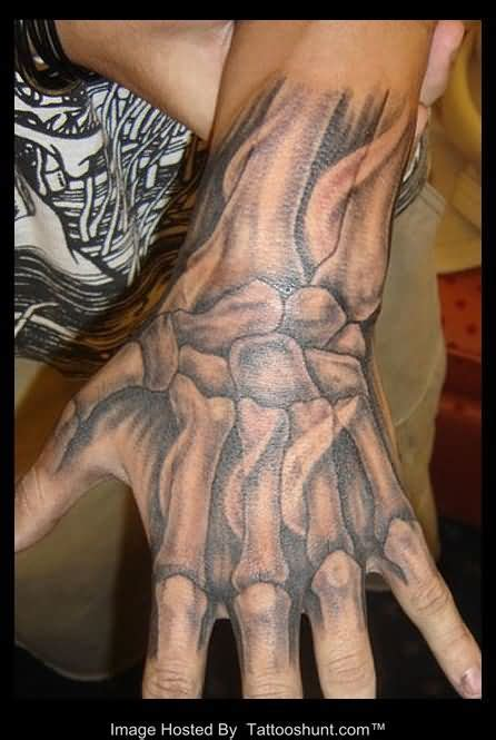 hand bone tattoo 3d skeleton tattooshunt