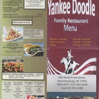 yankee doodle food truck menu yankee doodle family restaurant american new 860 n