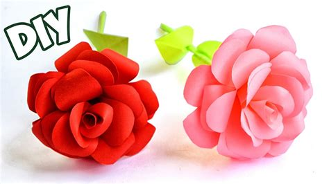 How To Make Paper Roses Easy - how to make easy paper crafts tutorial