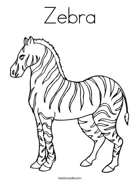coloring page for zebra zebra coloring page twisty noodle