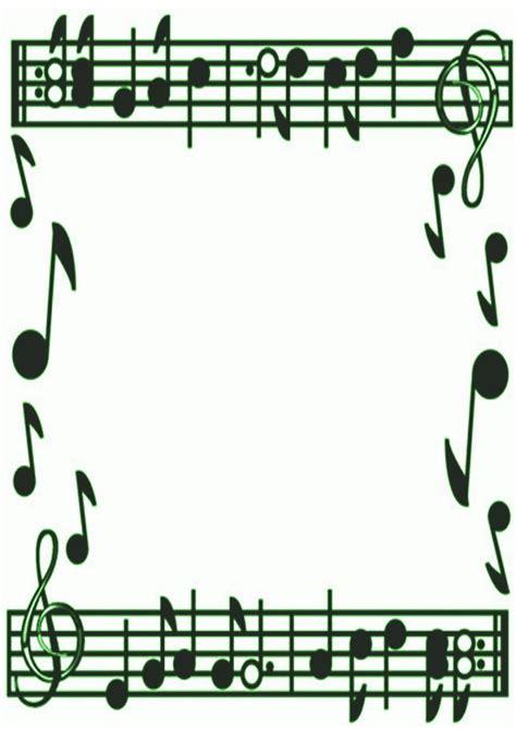 printable art music music note border clipart best
