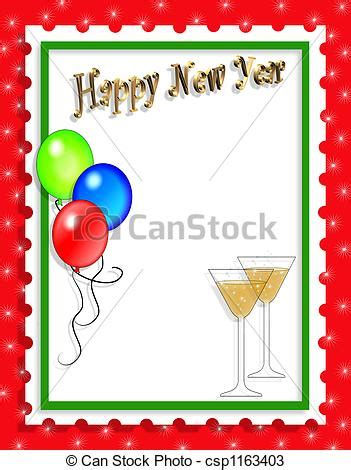new year card border new years clipart border clipart panda free clipart images