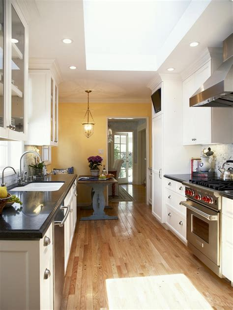 steps  create galley kitchen designs theydesignnet