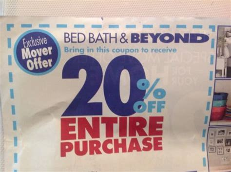 bed bath and beyond 20 off 20 bed bath and beyond entire printable coupon 2017