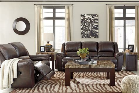 walnut living room furniture sets yancy walnut reclining living room set from