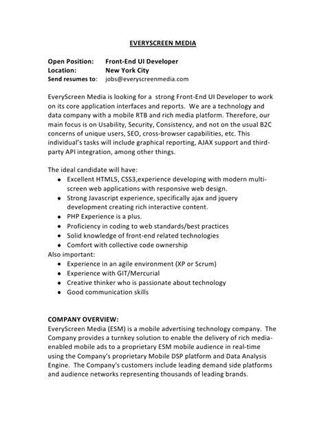 sle front end developer resume ui developer resume format resume template ideas