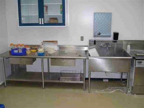 used stainless steel table with sink for sale triad scientific laboratory carts stainless steel sink