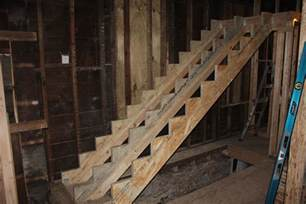 Basement Stair Stringers Stair Stringer Struggles Two Flat Remade