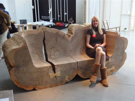 tree trunk bench seat gigantic tree trunk benches made from recovered elms pop
