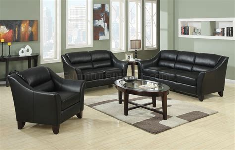 upholstery brooklyn 504531 brooklyn sofa in black bonded leather by coaster
