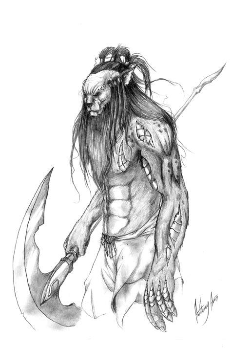 doodle warrior leonin warrior by anthonyavon on deviantart