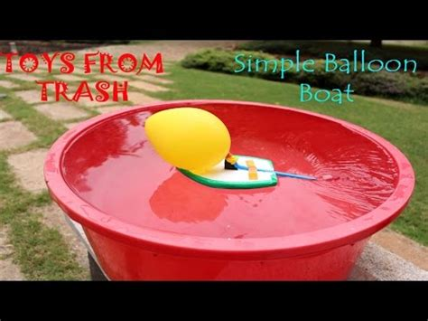 motorboat in hindi simple balloon boat hindi youtube
