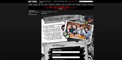 Hot Topic Sweepstakes - hot topic 5 seconds of summer fan contest hottopic com 5sosfancontest calling all